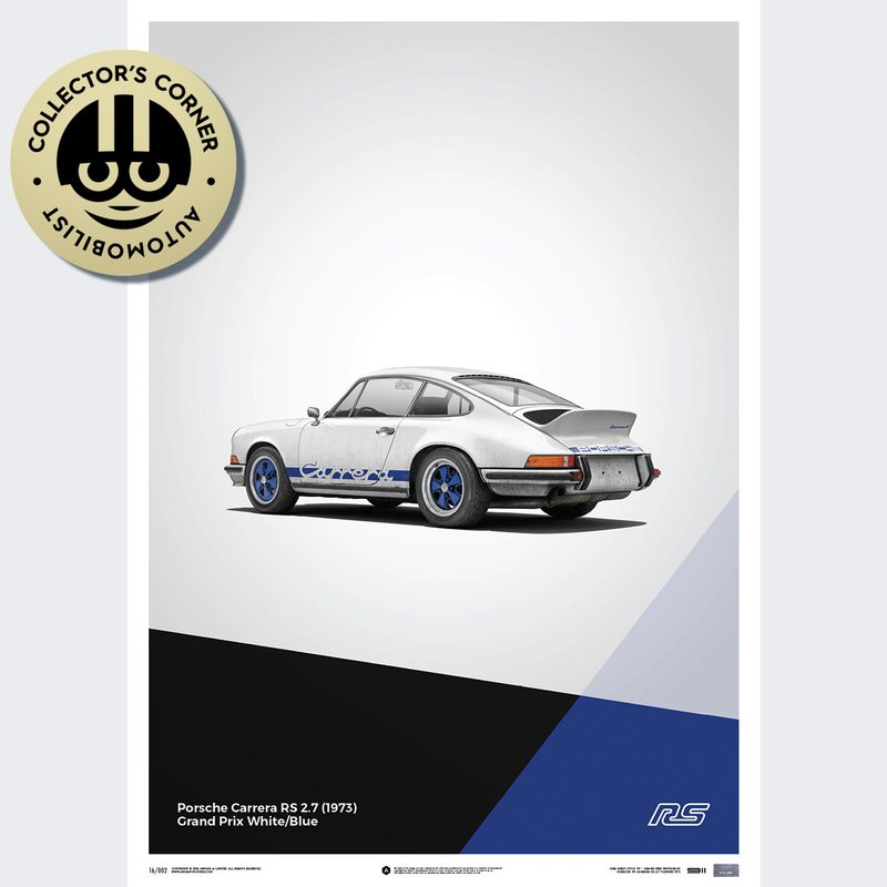 Porsche 911 RS - White - Limited Poster | Unique #s