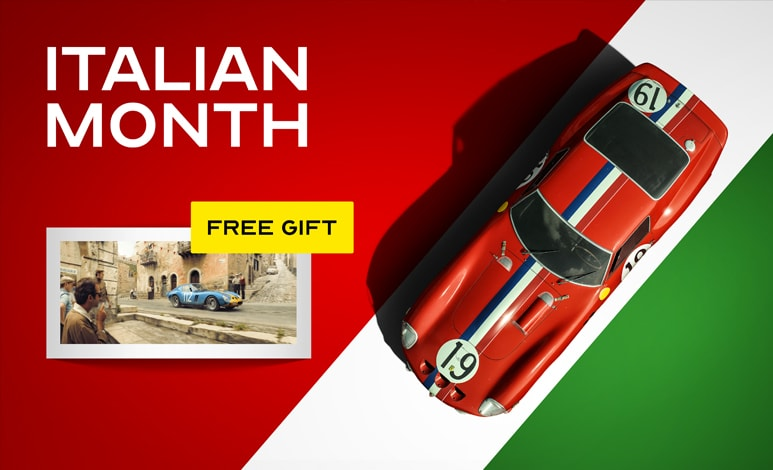 Italian Month at Automobilist - Receive a free gift with purchase!