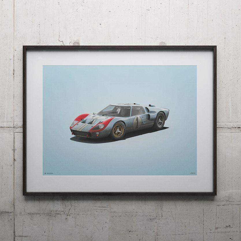 Le Mans B//W NEW Poster RACE START
