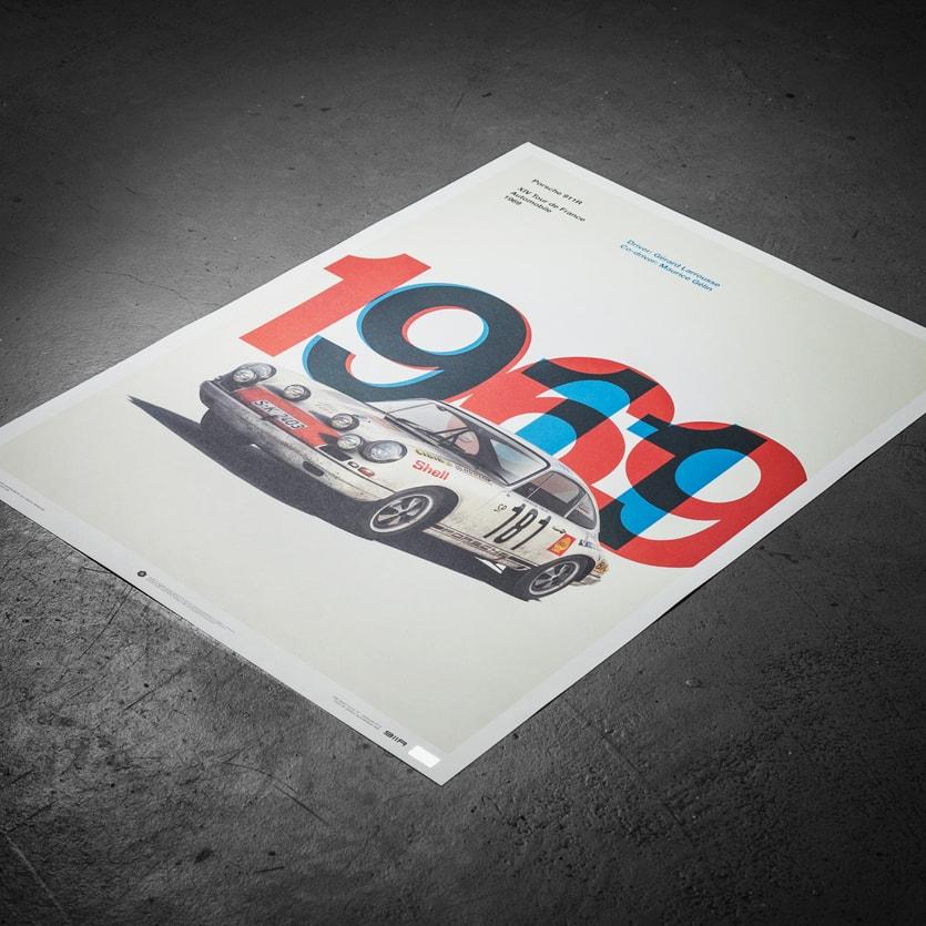Vintage motor sport Poster Wall art Reproduction. Automobile club de France