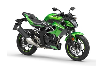 Kawasaki Z125 candy lime green