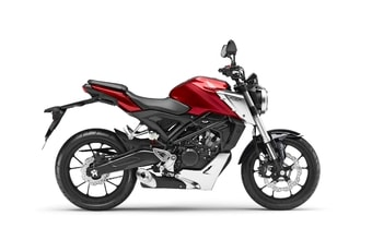 Honda CB125R candy chromosphere red