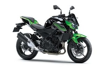 Kawasaki Z400 candy lime green