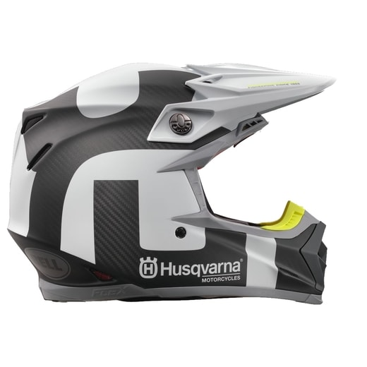 HELMA HUSQVARNA MOTO 9 FLEX RAILED CARBON/WHITE