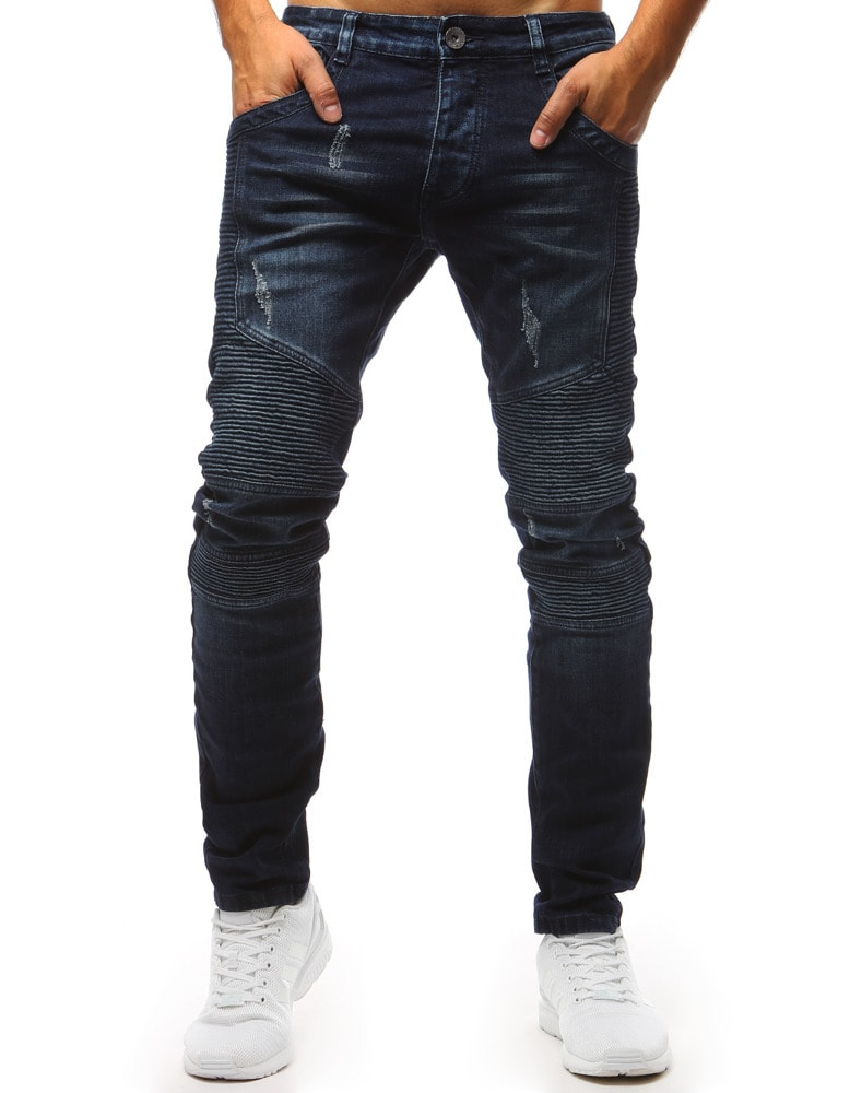 004aac6e7850 Siiuomo.it - Jeans uomo colore blu scuro - Buďchlap - Jeans ...