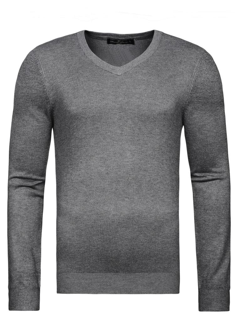 informazioni per 60731 18880 Siiuomo.it - Maglione elegante scollo V nel colore grigio ...