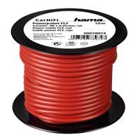 Hama power Cable FLY 2,5 mm˛, Red, 10 m on plastic reel