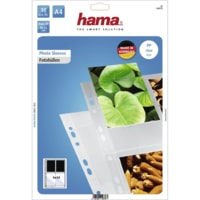 Hama photo sleeves for ring-binder albums A4, Clear, 9 x 13 cm