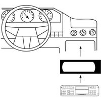 Hama car Radio Support for Renault Megane, Scenic