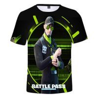 Triko FORTNITE BATTLE PASS black/green