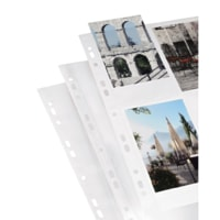 Hama photo sleeves for ring-binder albums A4, White, 10x15 cm