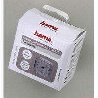 Hama RC 670 Radio Controlled Alarm Clock, white