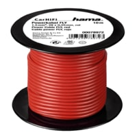 Hama power Cable FLY 1,5 mm˛, Red, 10 m on plastic reel