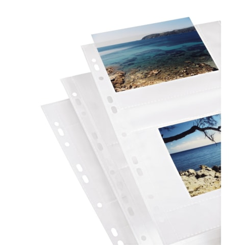 HAMA PHOTO SLEEVES FOR RING-BINDER ALBUMS A4, WHITE, 10 X 15 CM