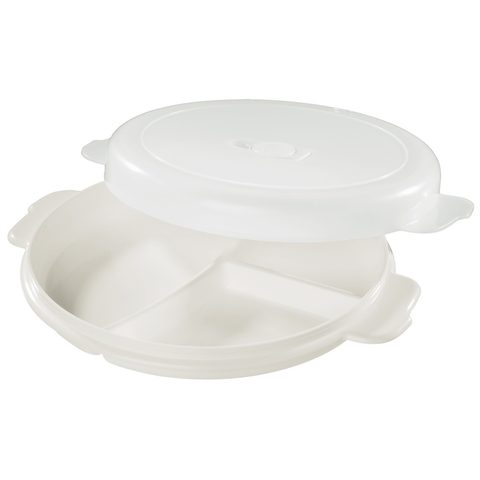 XAVAX MICROWAVE PLATE, SEPARATE WITH COVER