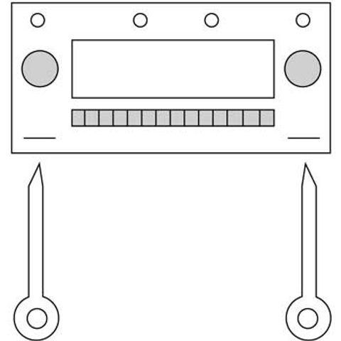 HAMA BECKER CAR RADIO UNLOCK BRACKET