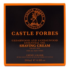 Krem do golenia Castle Forbes - Cedarwood & Sandalwood (200 ml)