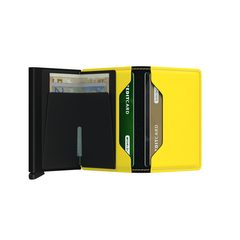 Secrid Slimwallet Matte - Black & Yellow
