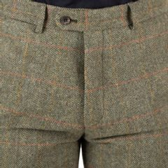 Spodnie tweedowe Walker Slater Edward - Moss Red Yellow Herringbone & Windowpane