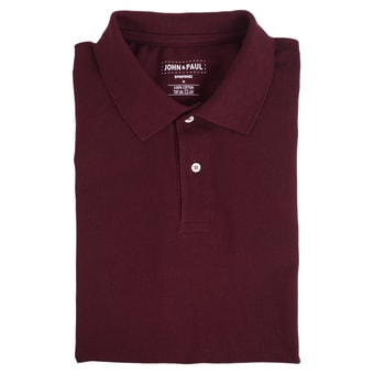 Perłowe polo® John & Paul - burgundowe