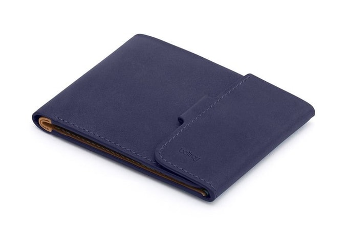 Bellroy Coin Fold – Navy & Tan