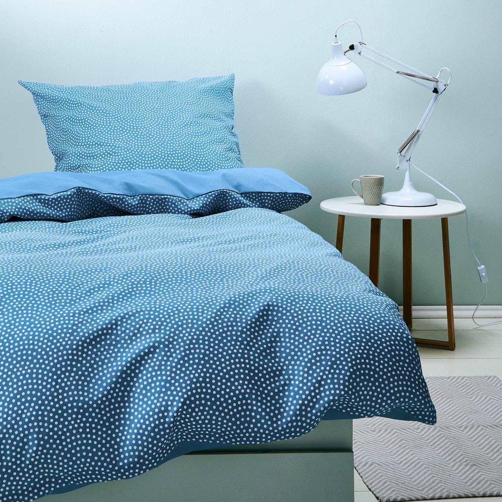 SWEET DREAMS Obliečky obojstranné 135 x 200 cm / 80 x 80 cm - modrá
