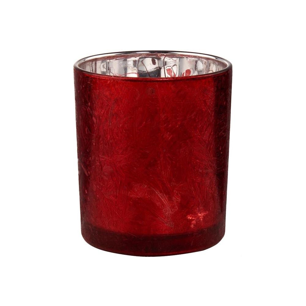 DELIGHT Svietnik na čajovú sviečku - červená