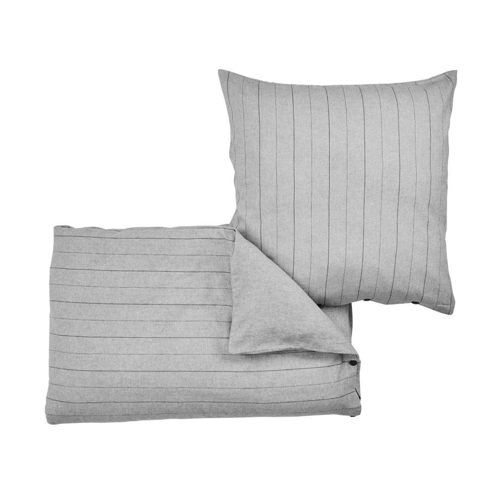 VERMONT Flanelové obliečky 135 x 200 cm / 80 x 80 cm - sv. šedá