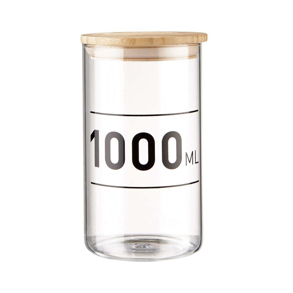 WOODLOCK Sklenená dóza s potlačou 1000 ml
