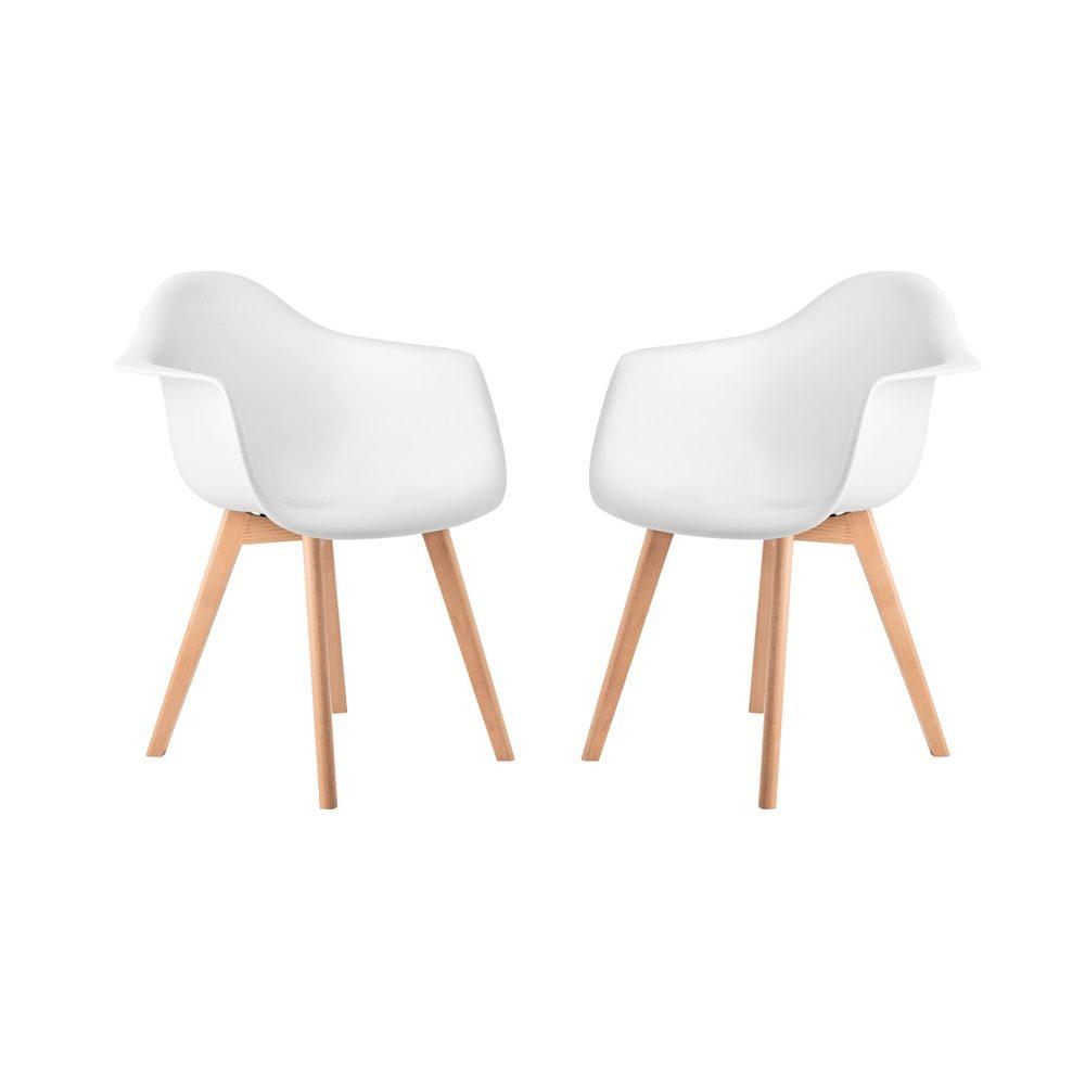 SEAT-OF-THE-ART Stoličky s podrúčkami set 2 ks - biela