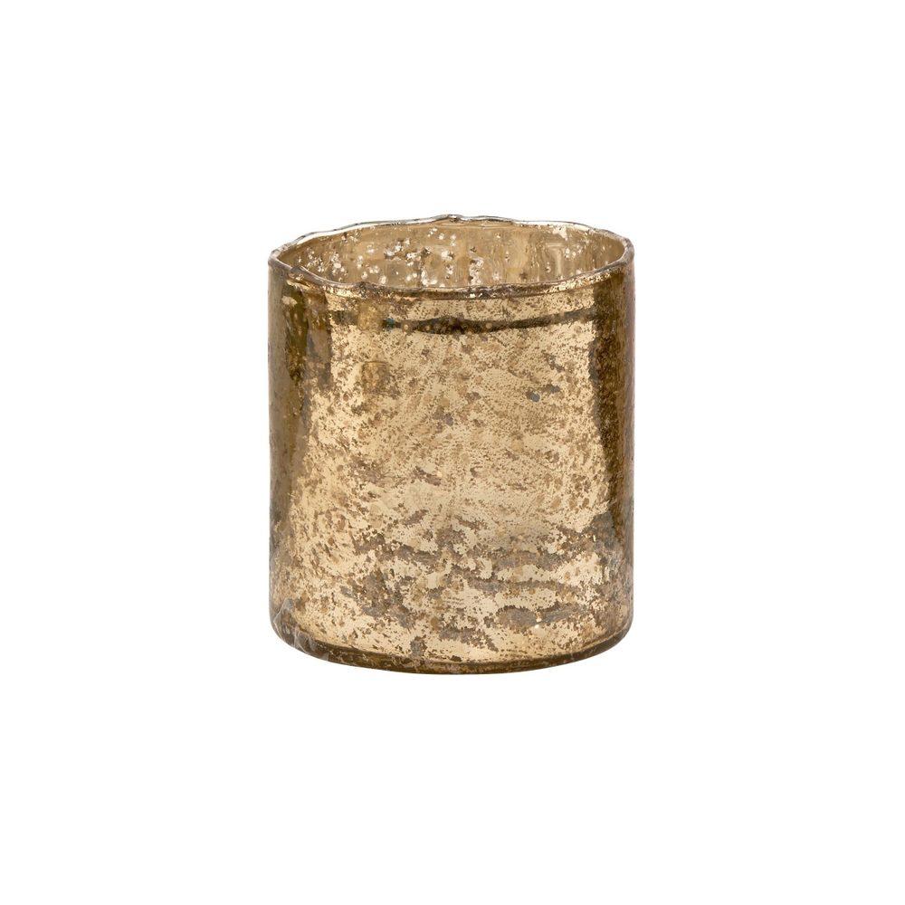 DELIGHT Sklenený votívny svietnik 8 cm - zlatá