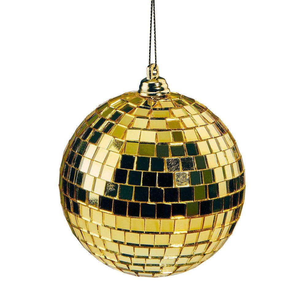 MINI DISCO Disko guľa 8 cm set 4 ks - zlatá