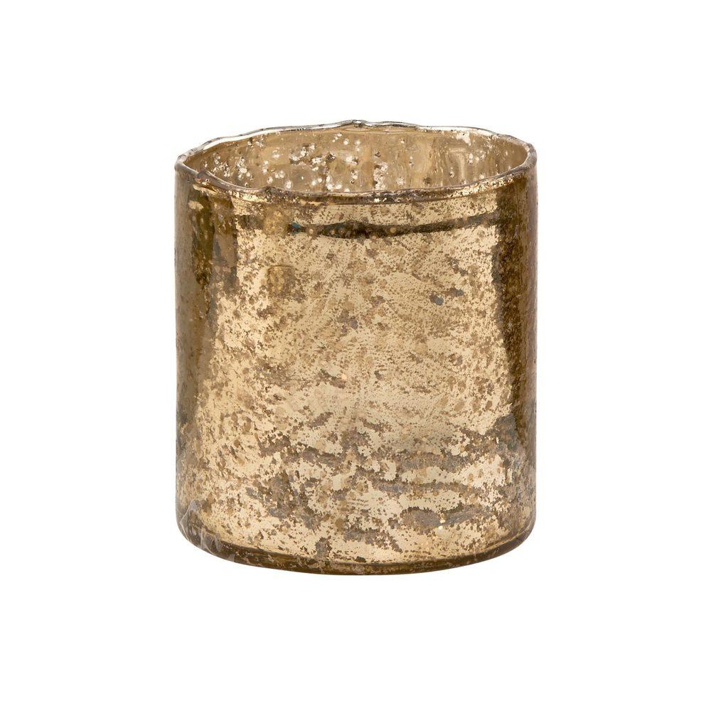 DELIGHT Sklenený votívny svietnik 10 cm - zlatá