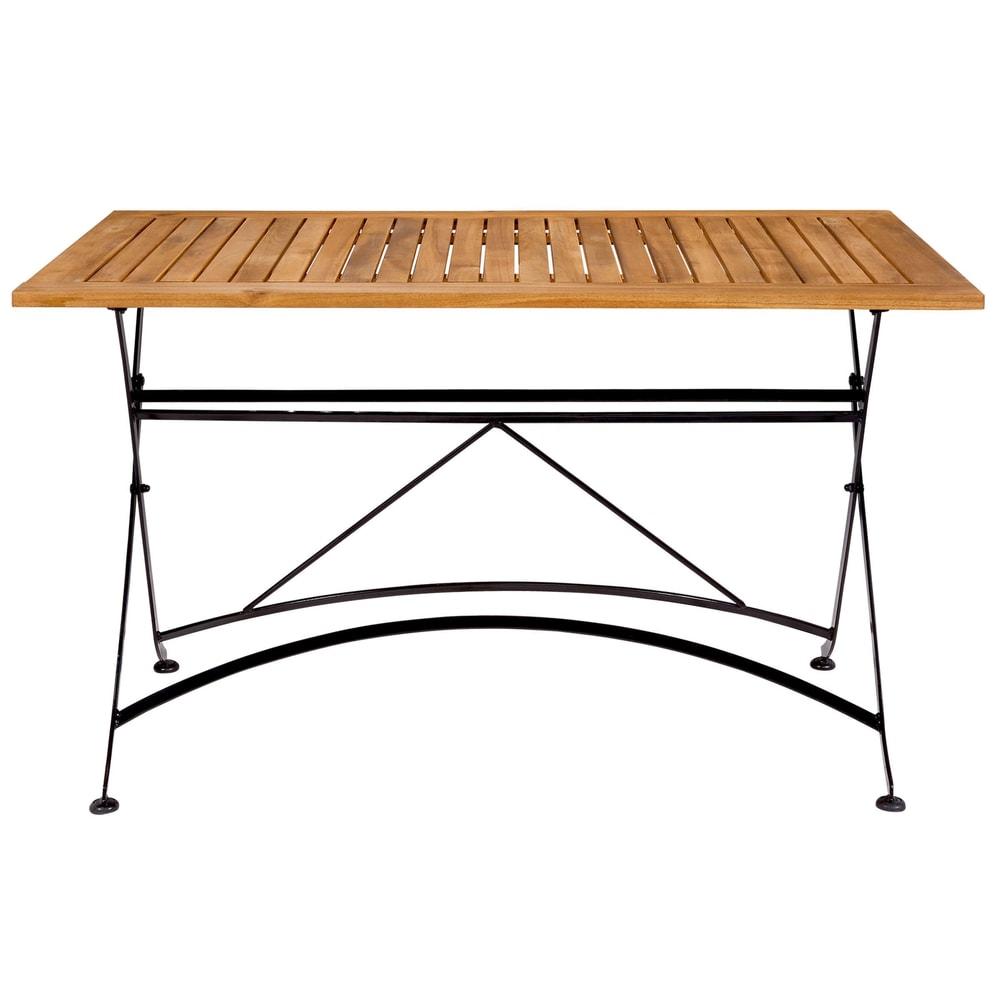 PARKLIFE Stôl 80 x 130 cm - čierna/hnedá