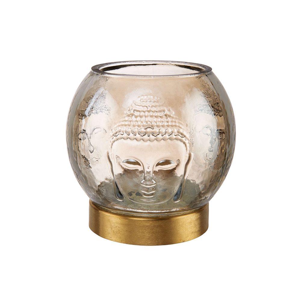 BALI Svietnik na čajovú sviečku motív Buddhy