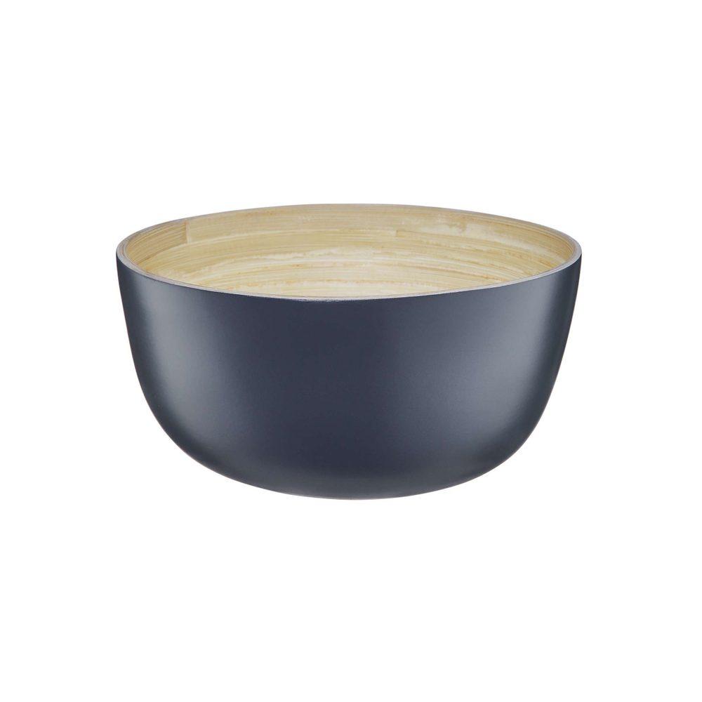 BAMBOO Bambusová miska 20 cm - antracitová