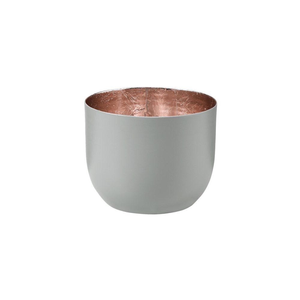 AURORA Svietnik na čajovú sviečku kovový 7 cm - sv. šedá