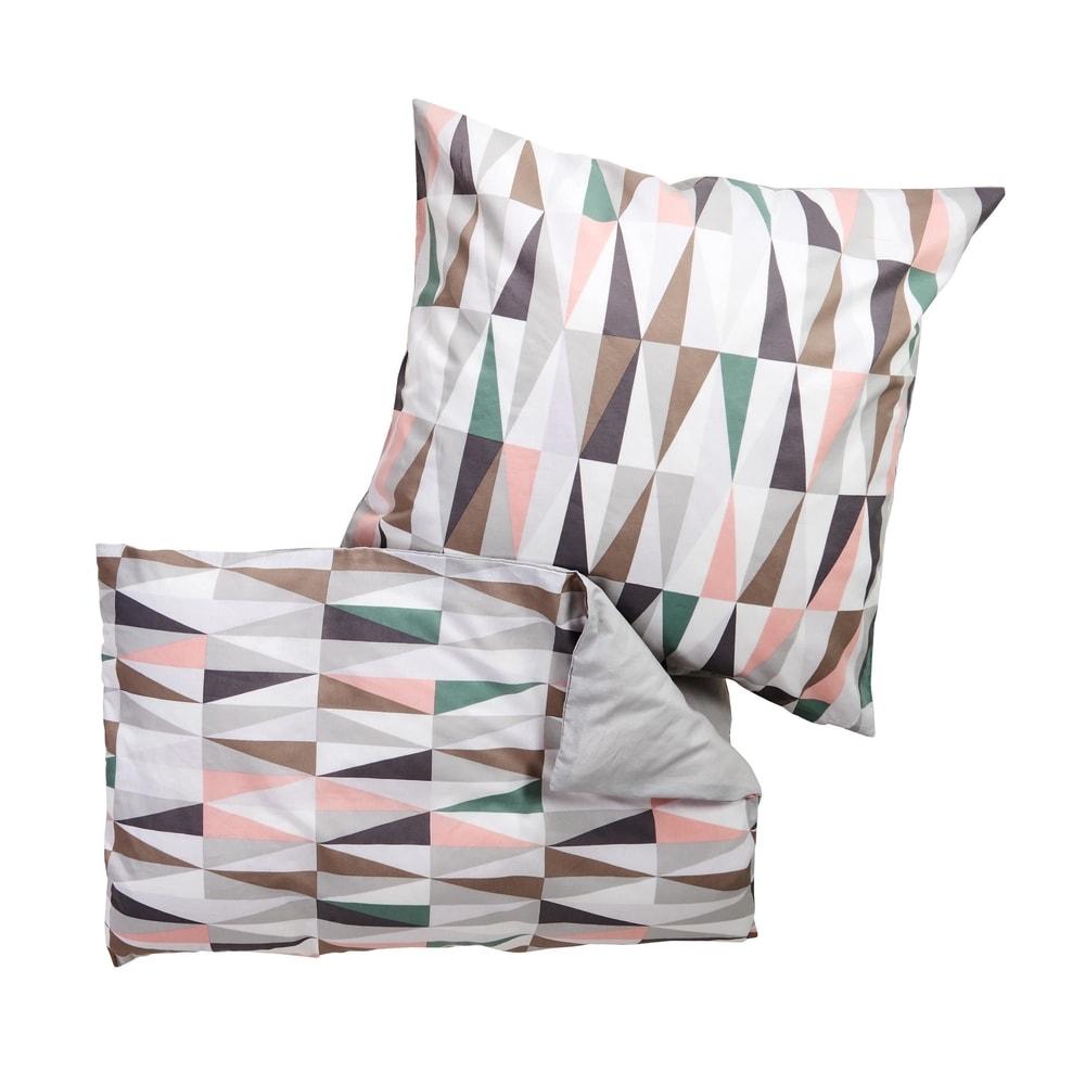 SWEET DREAMS Obliečky obojstranné trojuholníky 135 x 200 cm / 80 x 80 cm - mix