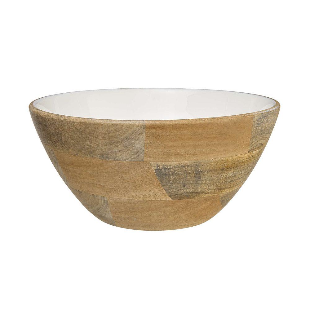 PASTEL LOVE Dekoračná drevená miska 26 cm - biela