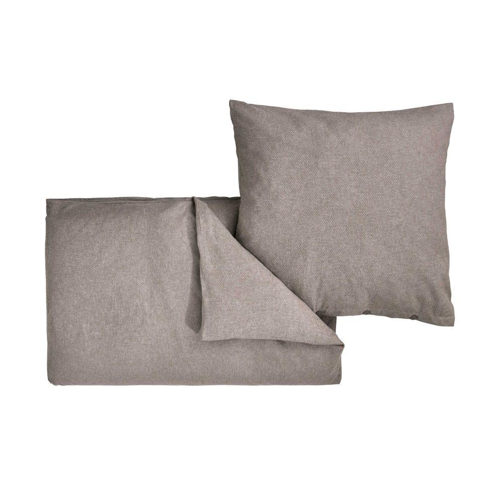 VERMONT Flanelové obliečky 135 x 200 cm / 80 x 80 cm - šedohnedá