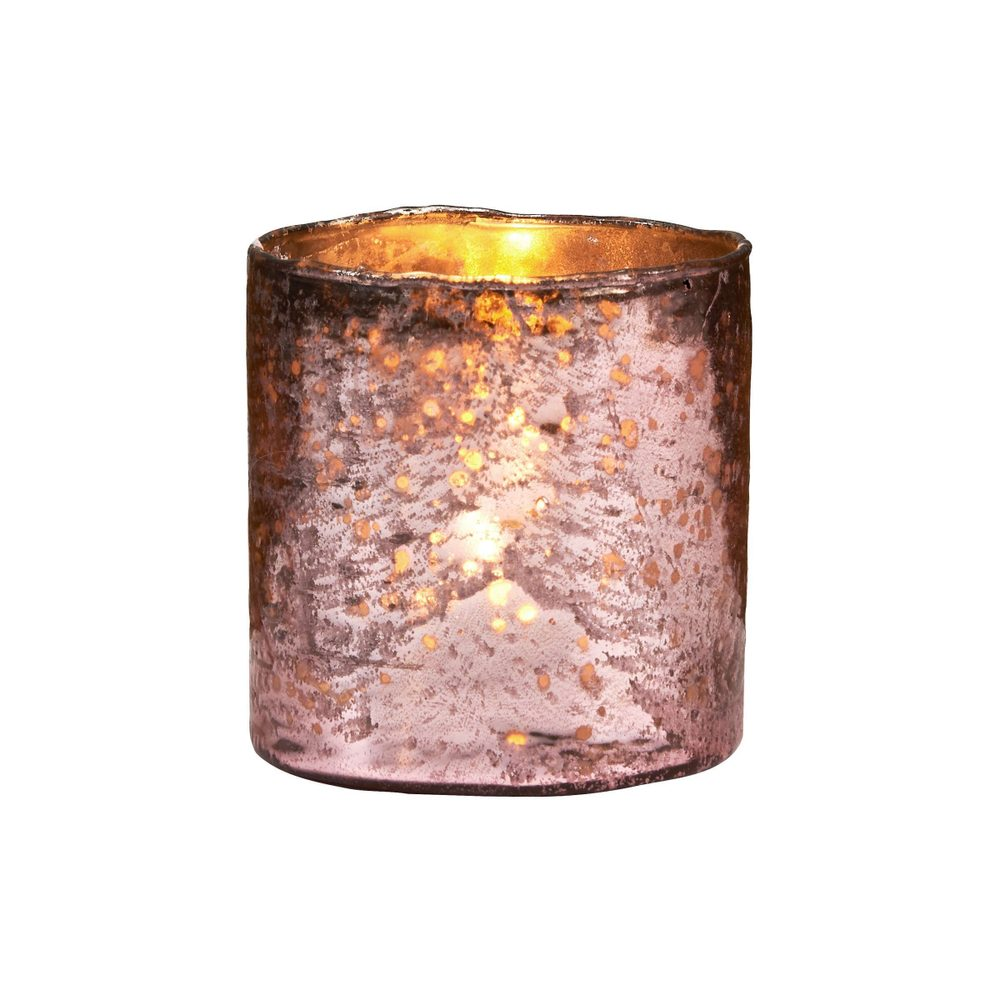 DELIGHT Sklenený votívny svietnik 10 cm - ružová