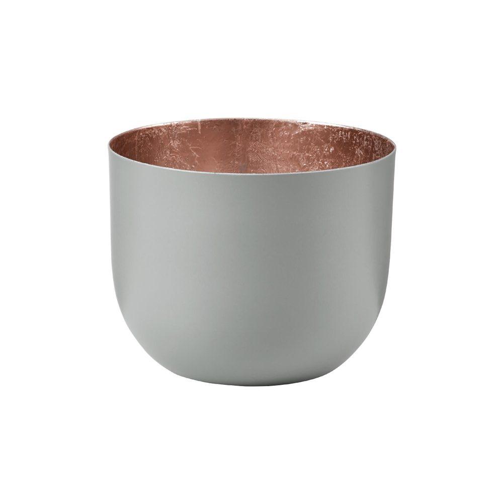AURORA Svietnik na čajovú sviečku kovový 10 cm - sv. šedá