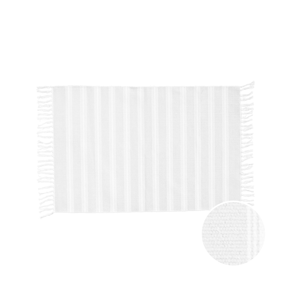 SILENT DANCER Koberček pruhovaný 60 x 90 cm - šedá/biela