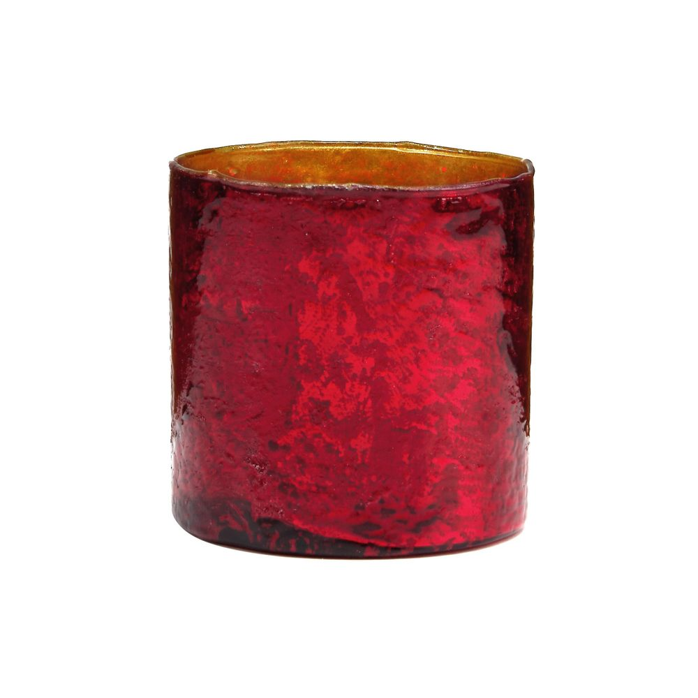 DELIGHT Sklenený votívny svietnik 10 cm - červená