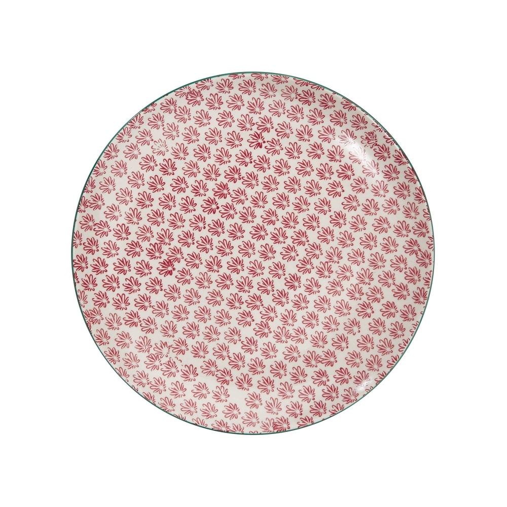 RETRO Jedálenský tanier - červená