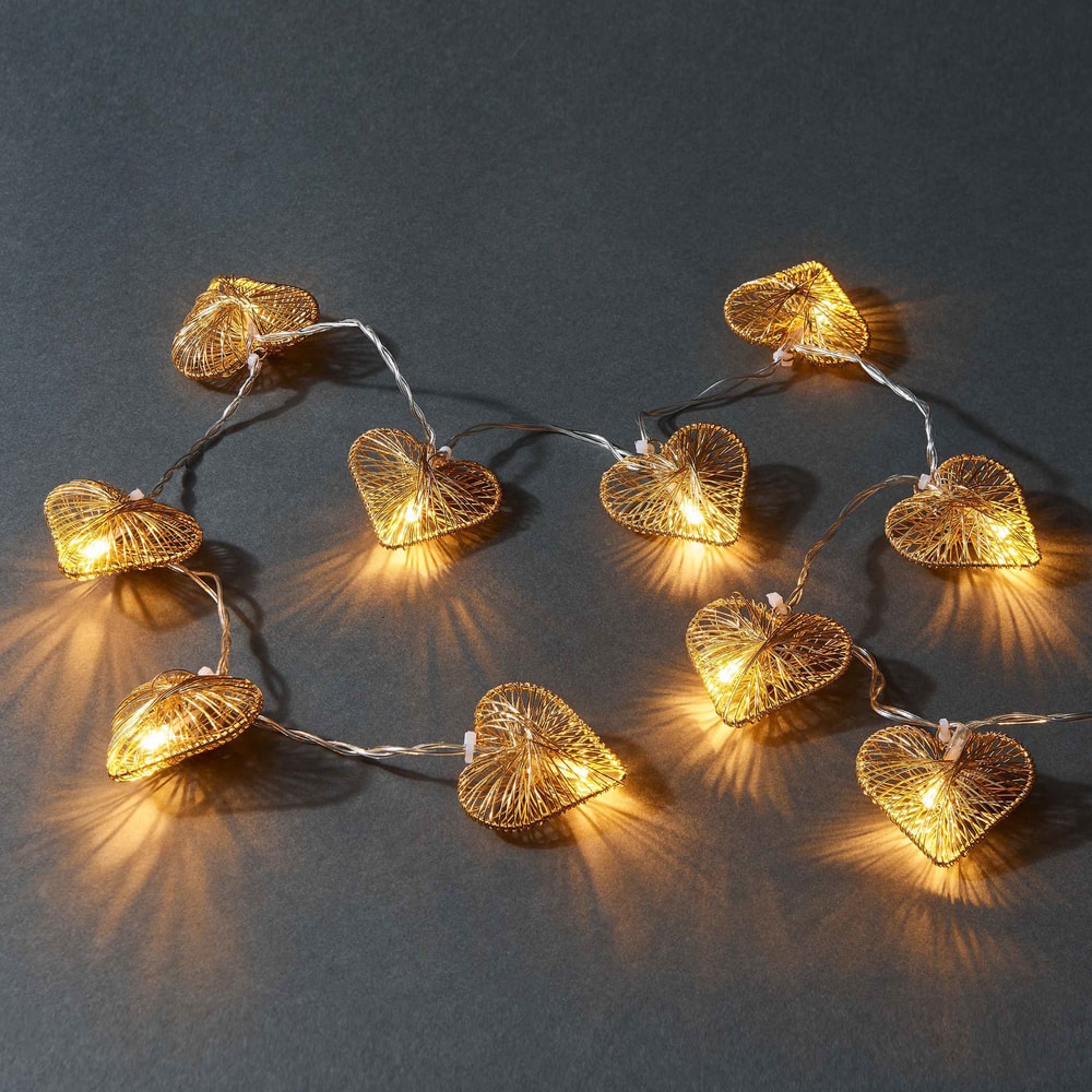 LOVELY LIGHTS Svetelná reťaz srdce 10 svetiel