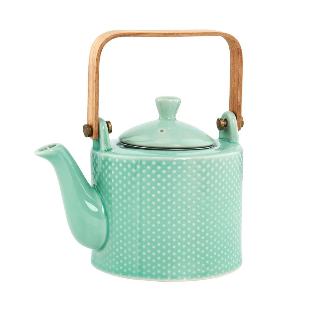 HANAMI Kanvička na čaj s drevenou rukoväťou