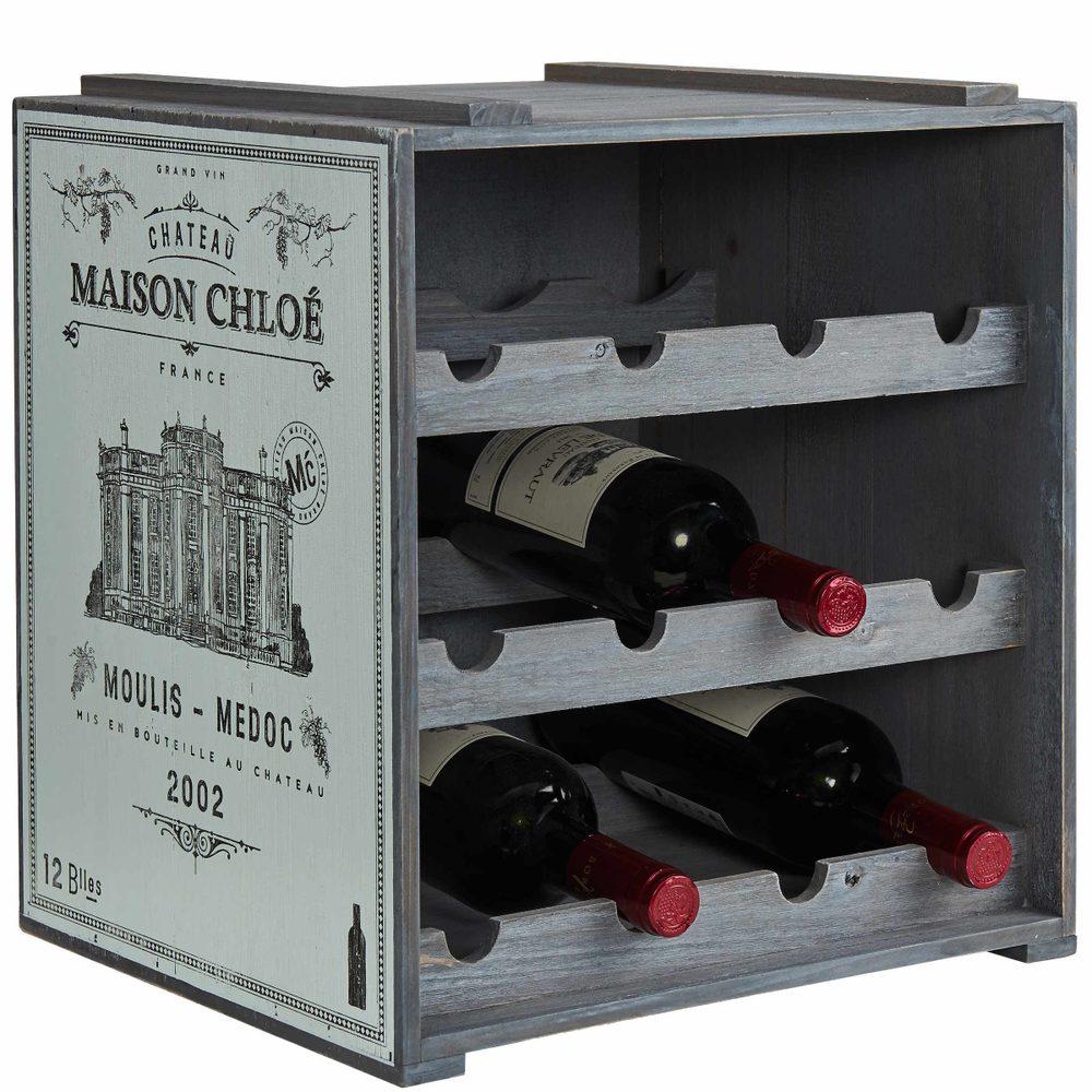 VINOTHEK Regál na víno - modrá