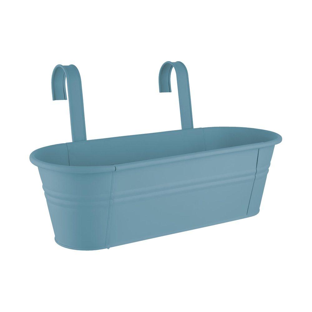 ZINC Truhlík na zavesenie 50 cm - modrá