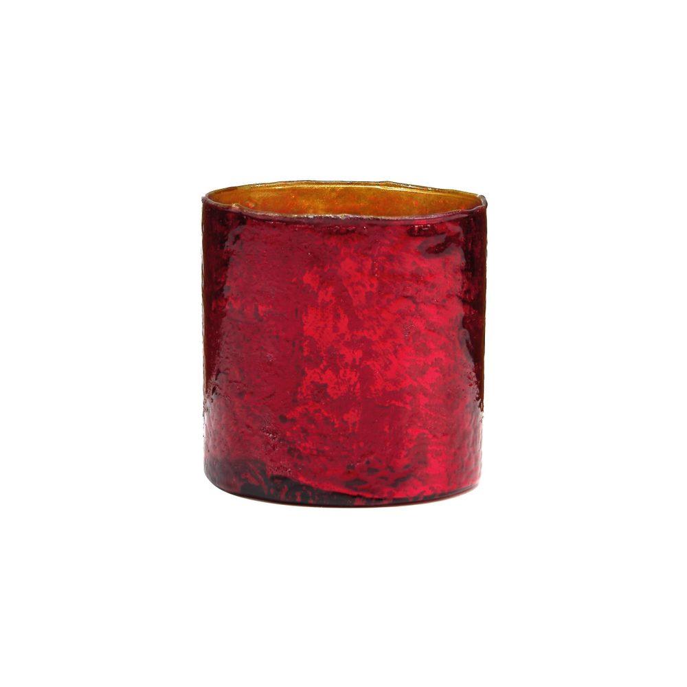 DELIGHT Sklenený votívny svietnik 8 cm - červená